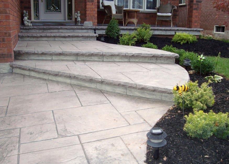 Stamped walkway yorkstone